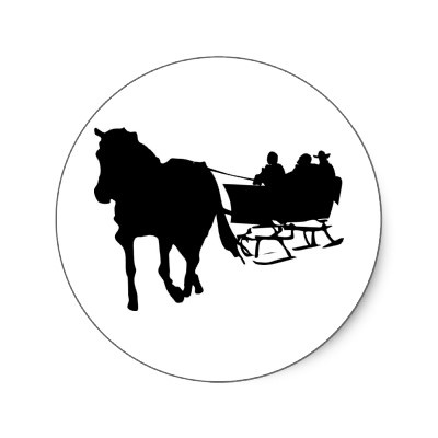 Horse And Sleigh Silhouette