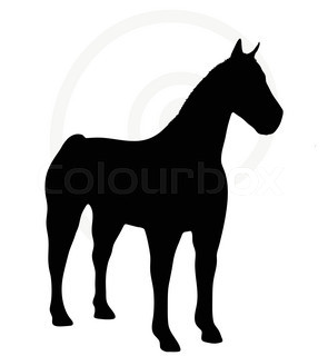 295x320 Man And Horse Silhouette Vector Stock Vector Colourbox