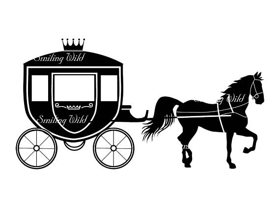 570x403 Carriage Silhouette Horse Svg Png Vector Graphic File Clipart