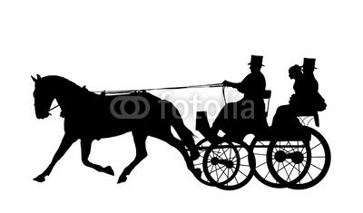 400x235 Horse And Carriage Wedding 5 Silhouettes