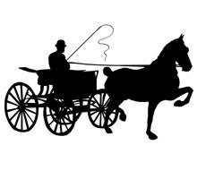 220x200 Horse Drawn Carriage Clipart