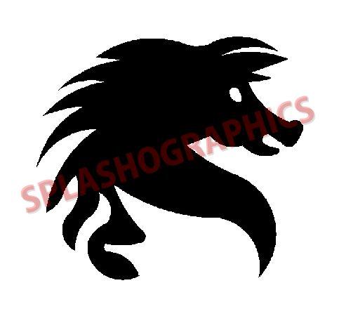 483x450 Horse Head Silhouette [Hor005]