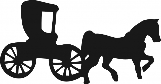 640x333 Amish Buggy Whorse Silhouette Laser Cut Appliques