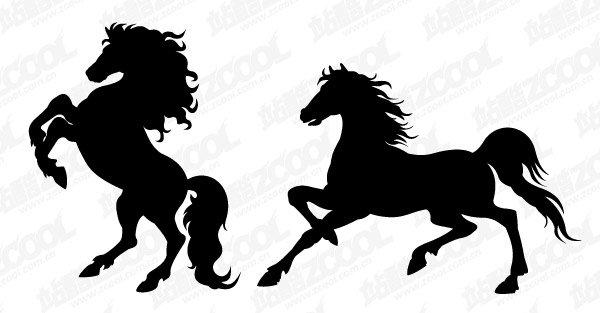 600x313 Horse Silhouette, Vector File