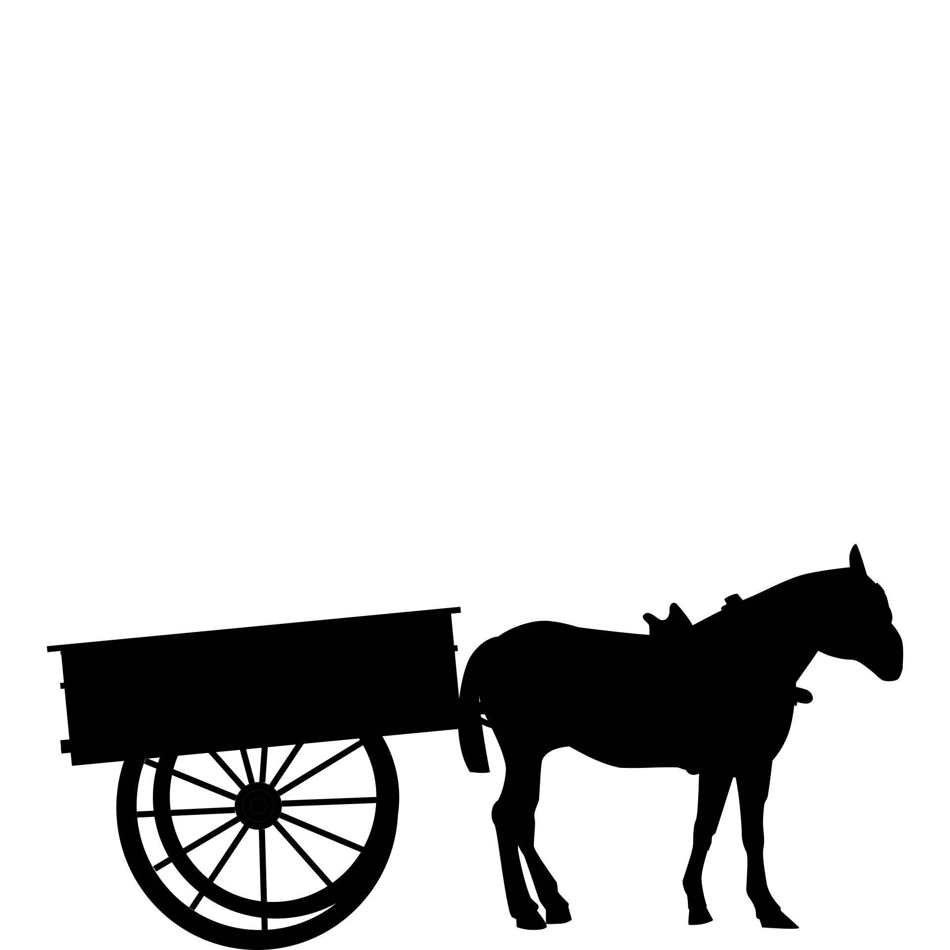1920x1920 Horse With Cart Free Stock Photo
