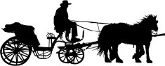 235x95 Carriage Silhouette Stock Vectors