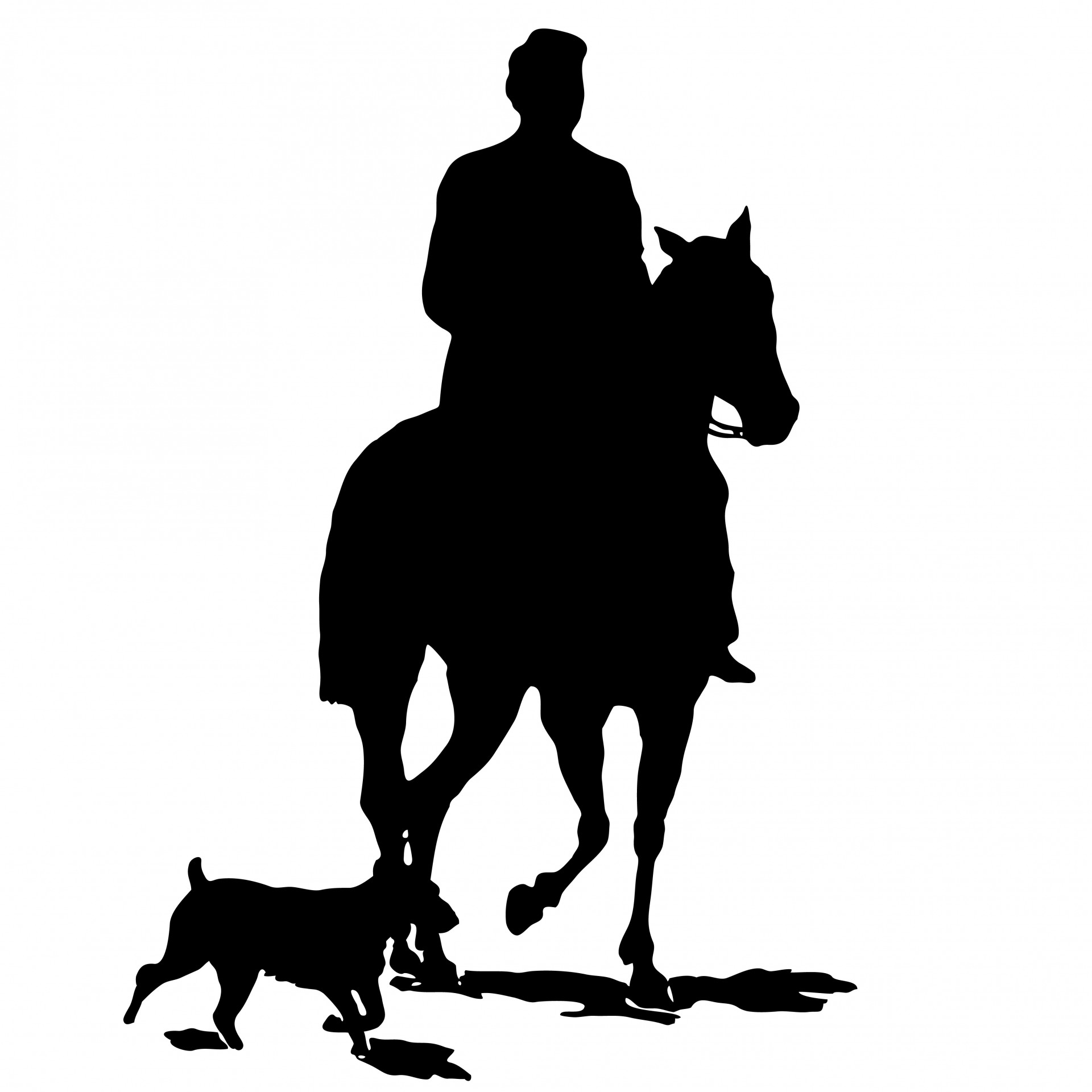 1920x1920 Horse Amp Dog Silhouette Clipart Free Stock Photo