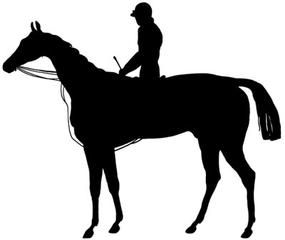 400x336 And Rider Silhouette Clip Art
