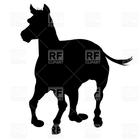 453x453 Horse Silhouette Royalty Free Vector Clip Art Image