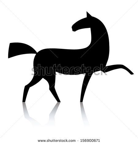 450x470 Black Horse Head Silhouette Stock Images Similar To Id 133858553