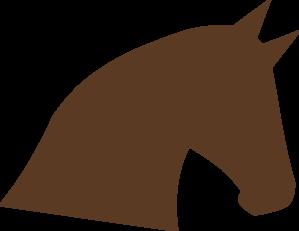 299x231 Horse Head Silhouette Clip Art