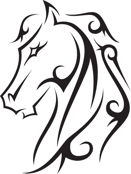 450x596 Line Drawings Hoeses Horse Tattoo Clip Art