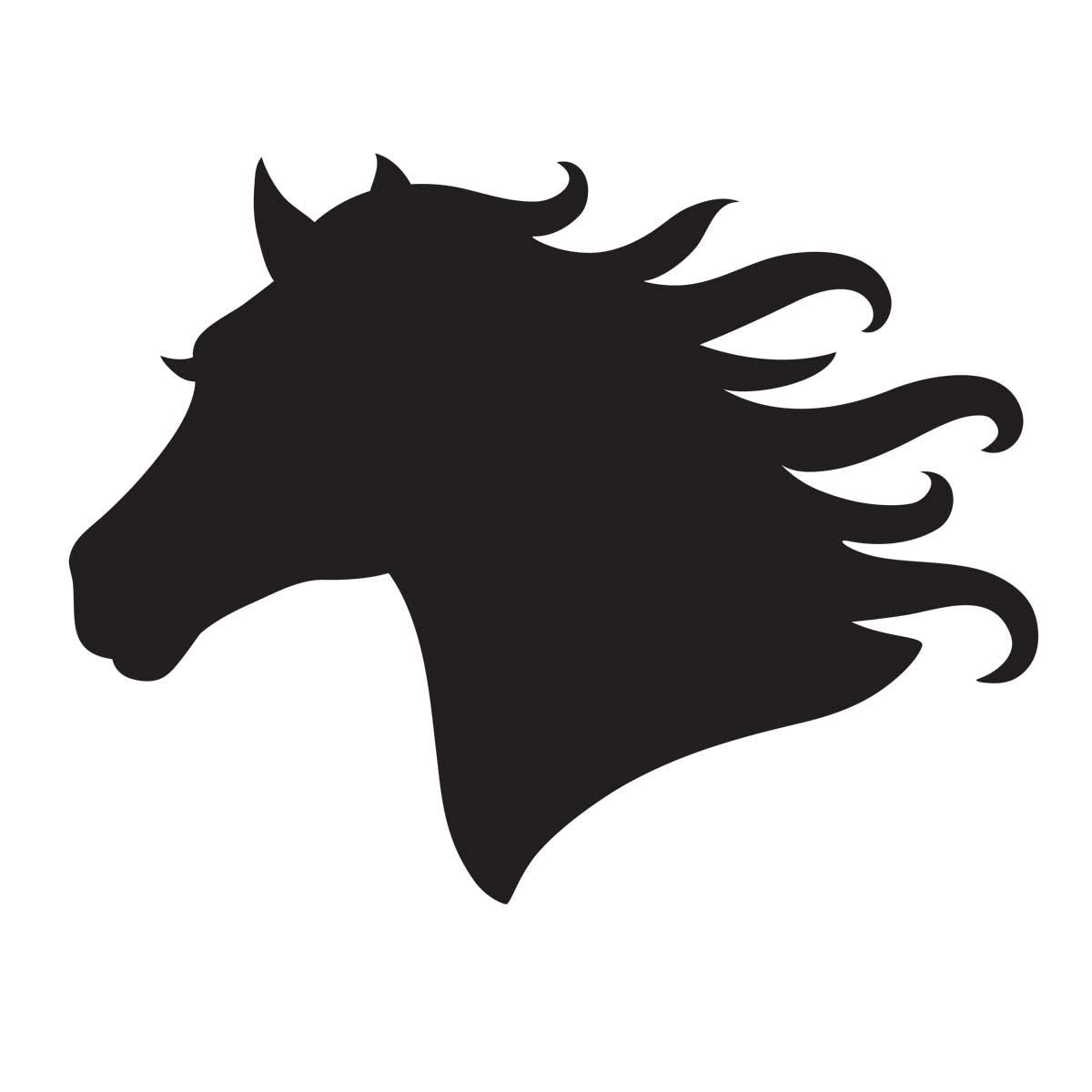 1200x1200 Printable Horse Stencils