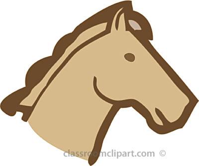 400x334 Silhouette Horse Head Clipart