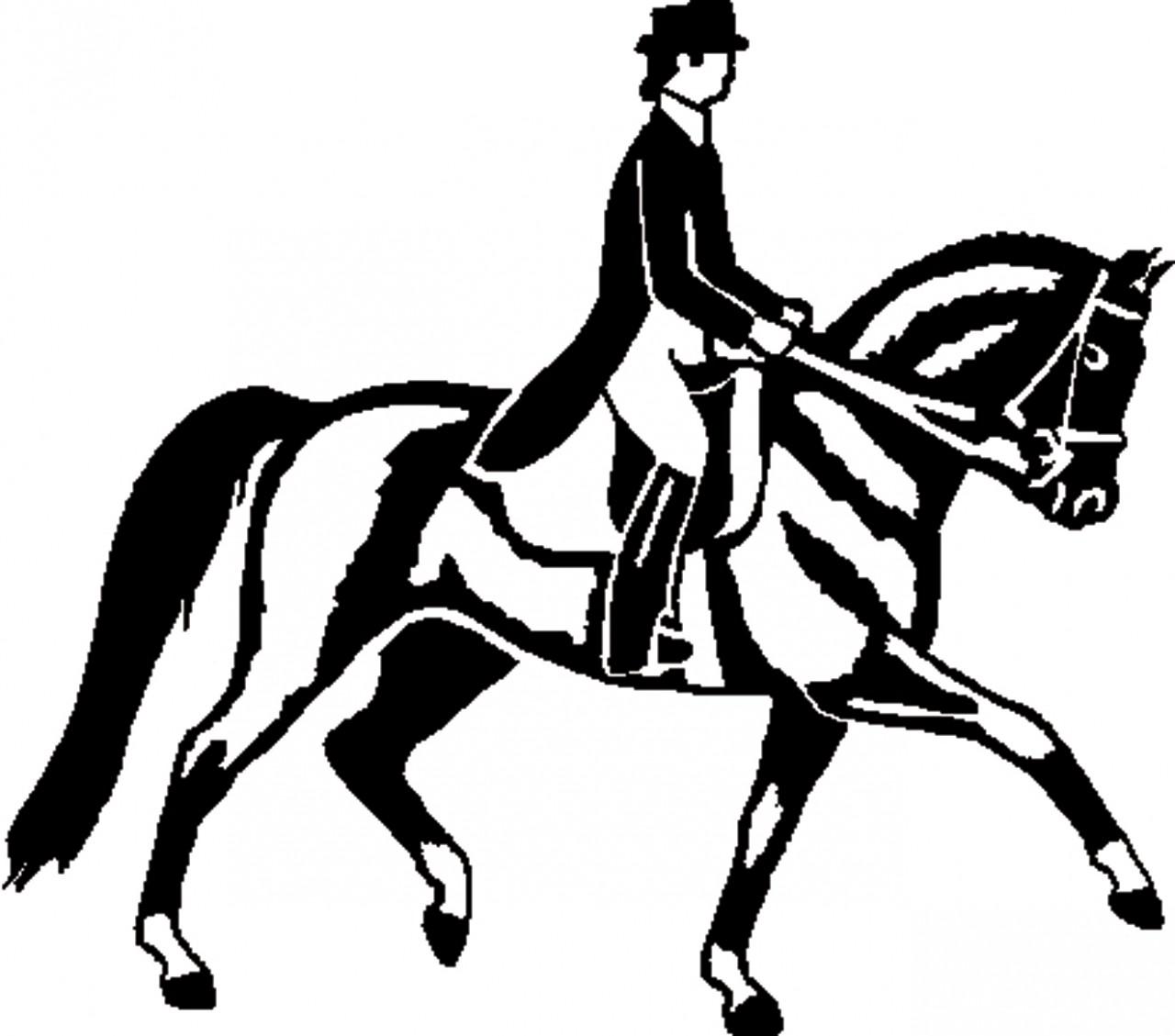 1280x1129 Clipart Dressage Horse Clip Art