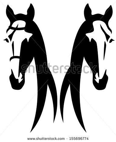 383x470 Stock Vector Horse Head Abstract Design Black And White Vector