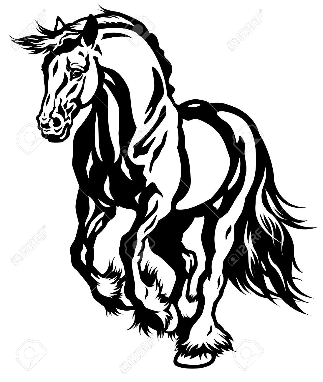 Horse Head Silhouette Free at GetDrawings.com | Free for personal ...