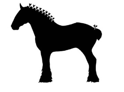 400x298 Draught Horse Clipart Realistic Horse 3239247