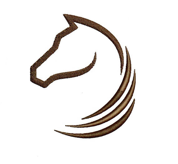 570x526 Horse Embroidery Design Horse Head Embroidery Design Horse Ouline