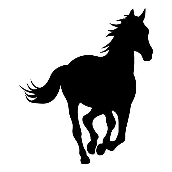550x550 Horse Head Silhouette Clip Art