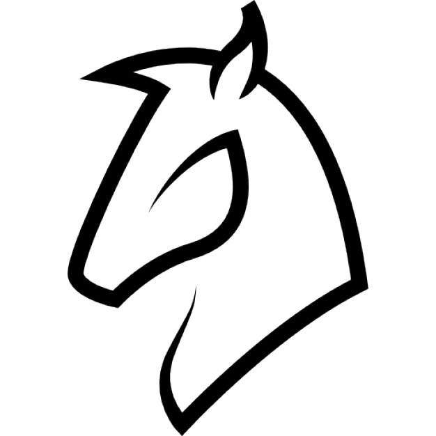 626x626 Horse Head Outline Icons Free Download