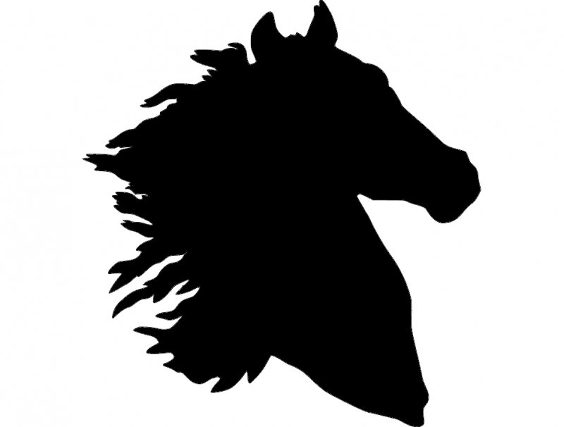 800x606 Horse Head Silhouette Dxf File Free Download
