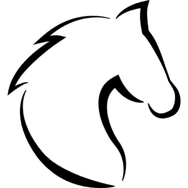 626x626 Horse Head With Hair Outline Icons Free Download