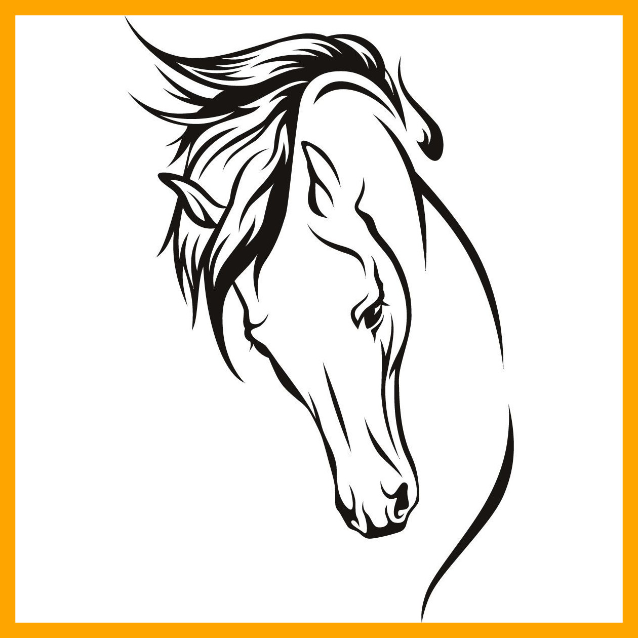 1260x1260 Best For U Horse Face Clip Art Black And White Drawings Head