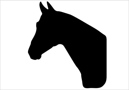 501x352 Horse Head Outline Clip Art Clipartfest