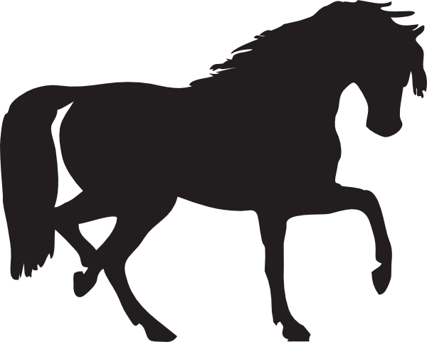 600x481 Outline Of Horse Head Clipart Panda
