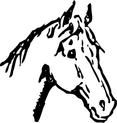 406x425 Head Outline Silhouette Face Cartoon Horse Heads Horses Automatic
