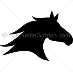 236x234 Horse Head Silhouette