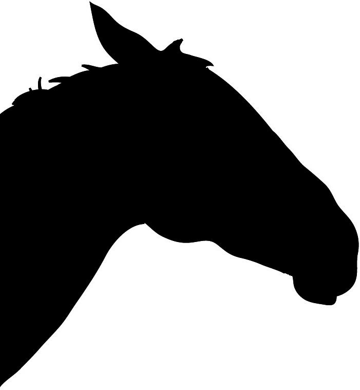 701x759 Horse Silhouette Head