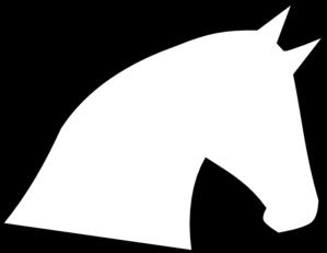 299x231 Horse Head Outline Clip Art