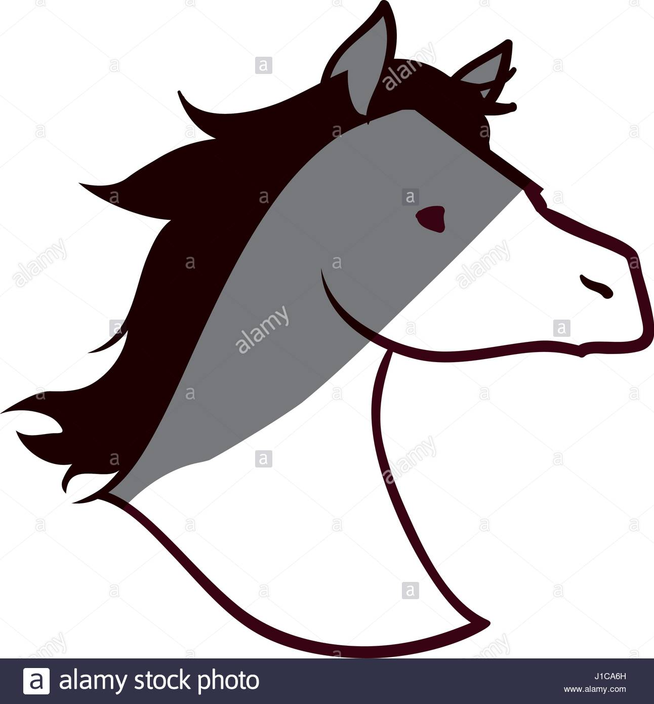 1292x1390 Horse Head Stock Vector Images