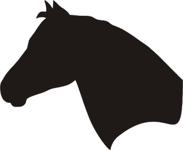 360x295 Horse Head Outline Free Download Clip Art