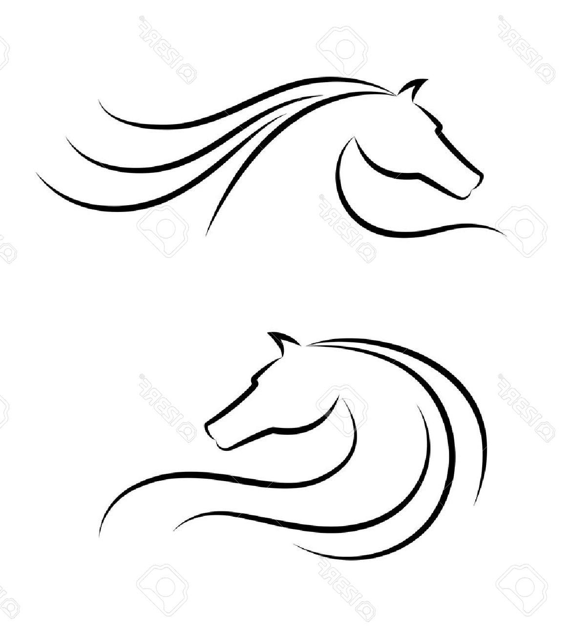 1175x1300 Best 15 Horse Head Emblem Stock Vector Silhouette Drawing