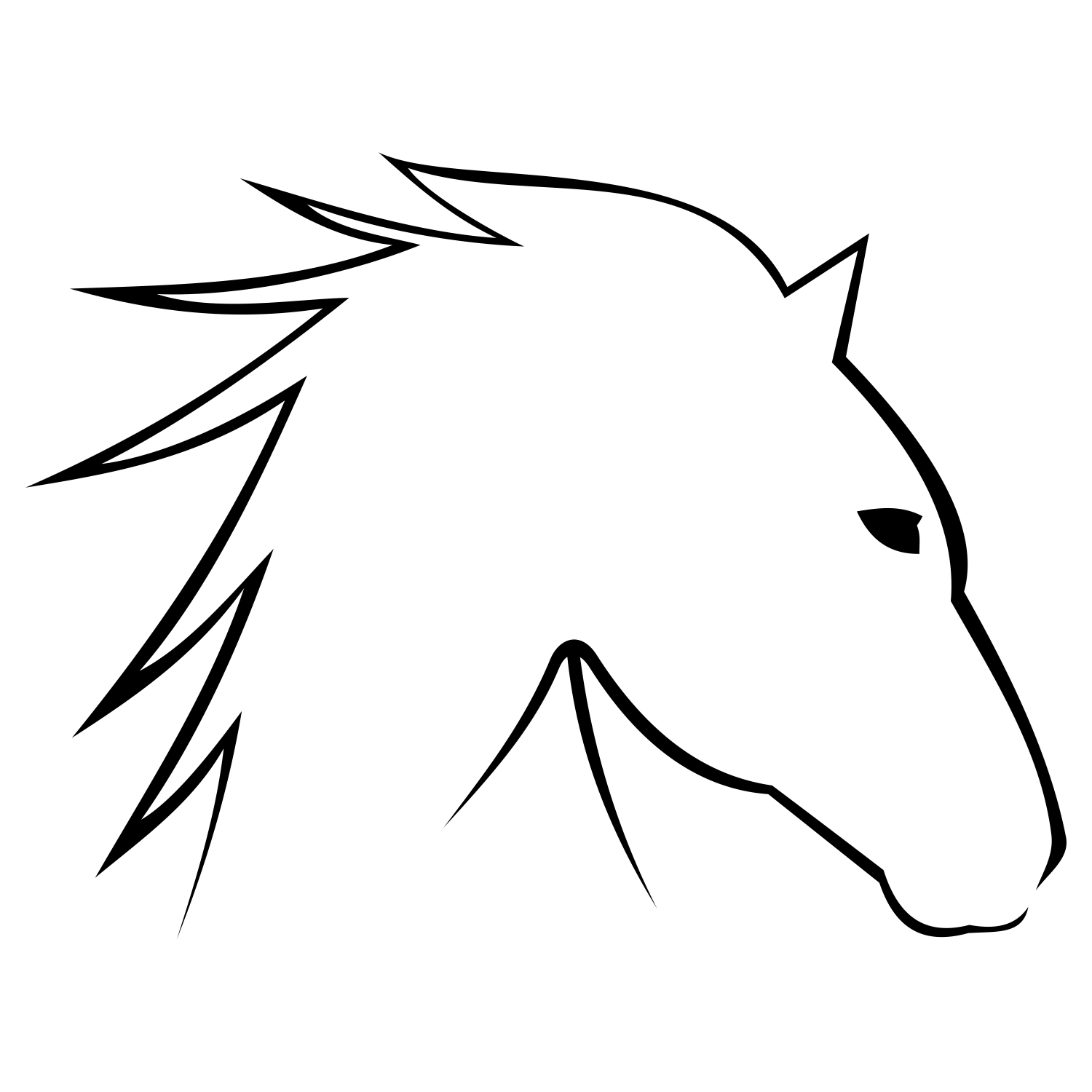 1500x1500 Vector For Free Use Horse Head Vector