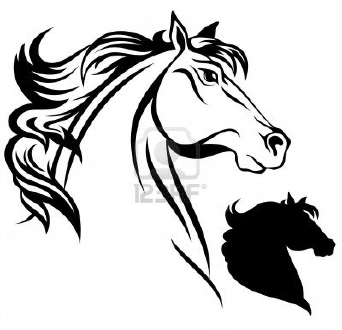 1200x1158 Horse Head Vector Stock Photo Tricot Vector Stock