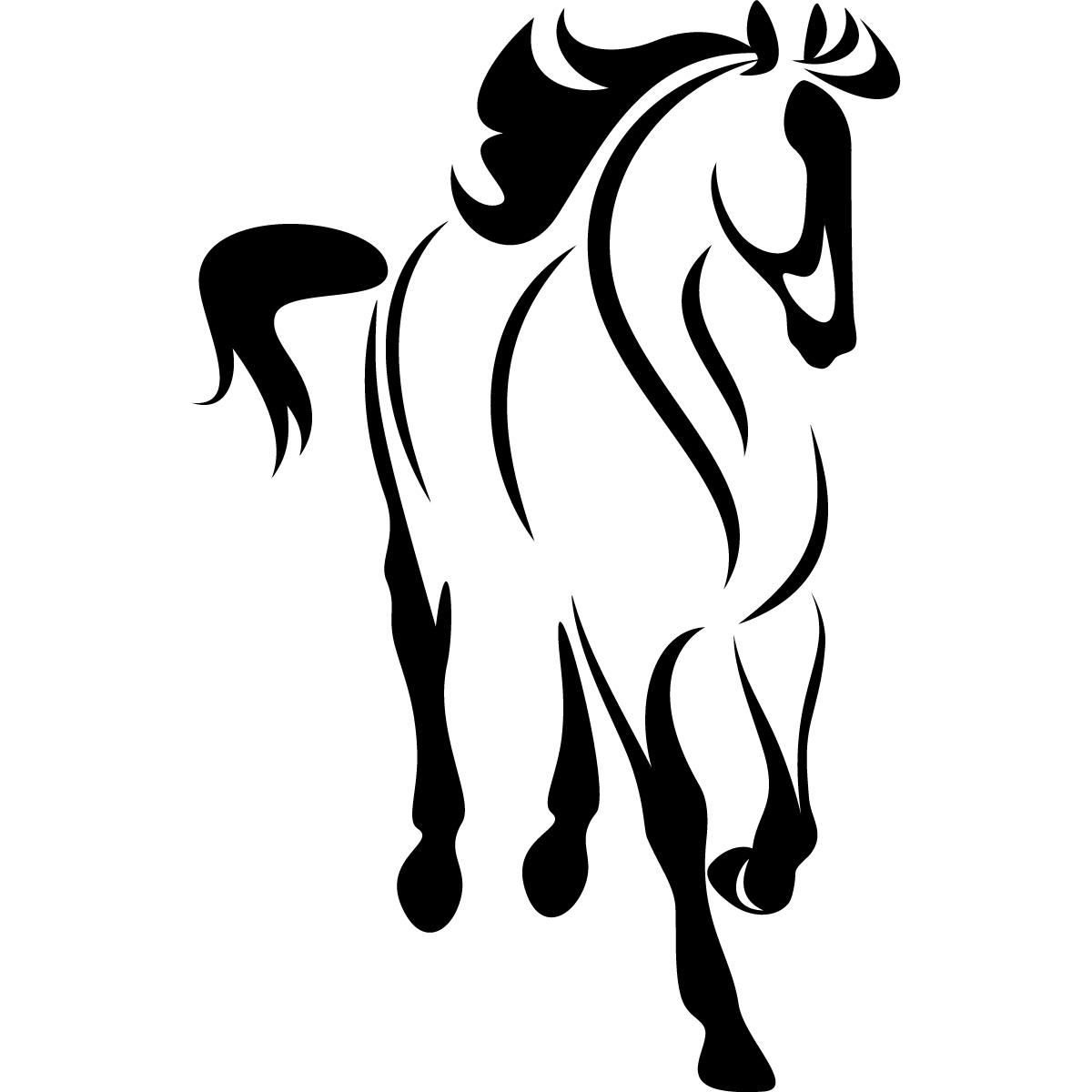 1200x1200 Free Horse Head Outline, Hanslodge Clip Art Collection