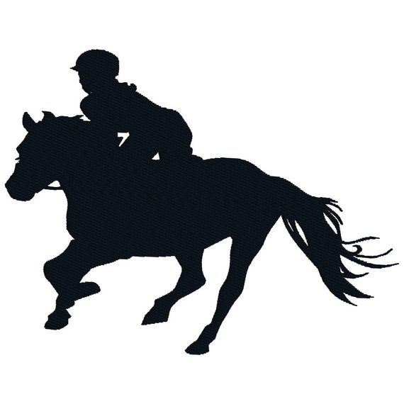 Horse Jockey Silhouette