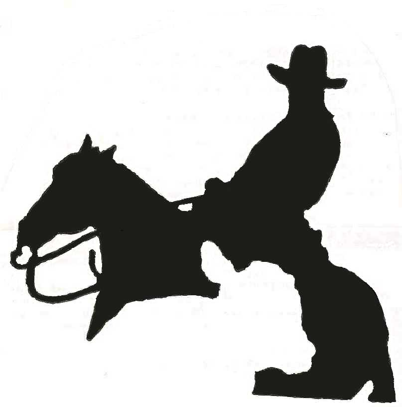 807x816 Reining Horse Silhouette 101 Clip Art