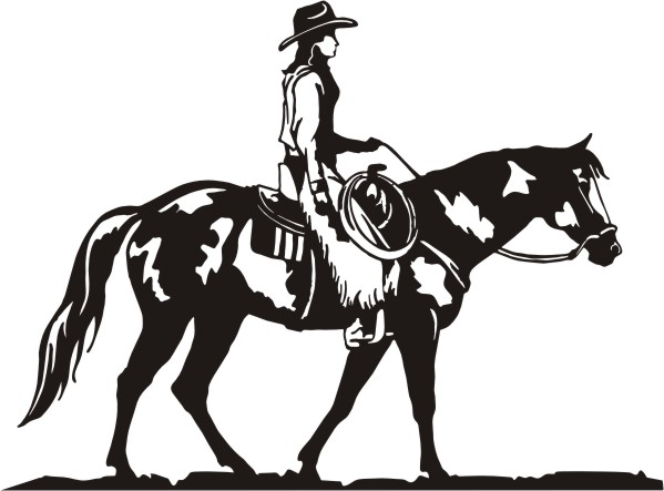 599x443 Western Pleasure Horse Silhouette Clipart Collection
