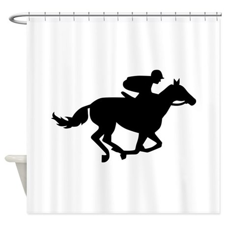 460x460 Horse Racing Shower Curtains