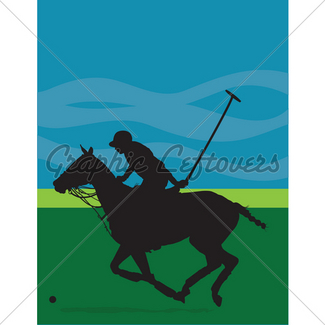325x325 Polo Pony Silhouette Gl Stock Images
