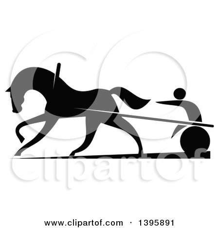 450x470 Clipart Of Black And Green Silhouetted Jockeys Racing Horses