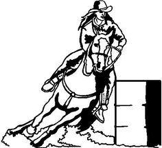 236x215 Cowgirl Barrel Racing Silhouette Design, Barrels And Silhouettes