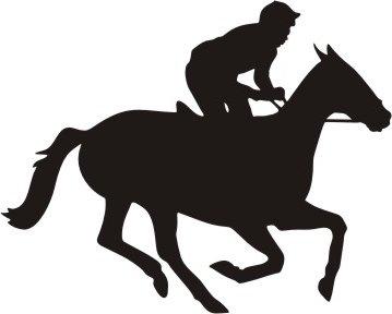 359x288 Horse Racing Clip Art