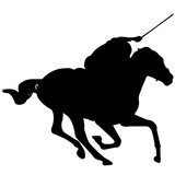 160x160 Horse Racing Silhouette, Horse Racer Clipart, Horse Racing Sports