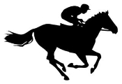175x120 Horse Racing Equestrian Decals Stickers